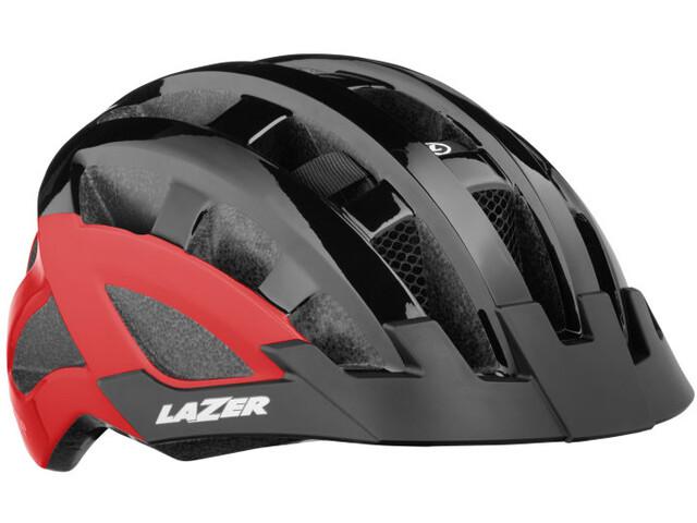 Lazer Compact Deluxe Casco, black-red